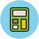 calculate, calculation, calculator, digital calculator, electronic calculator, finance, maths icon
