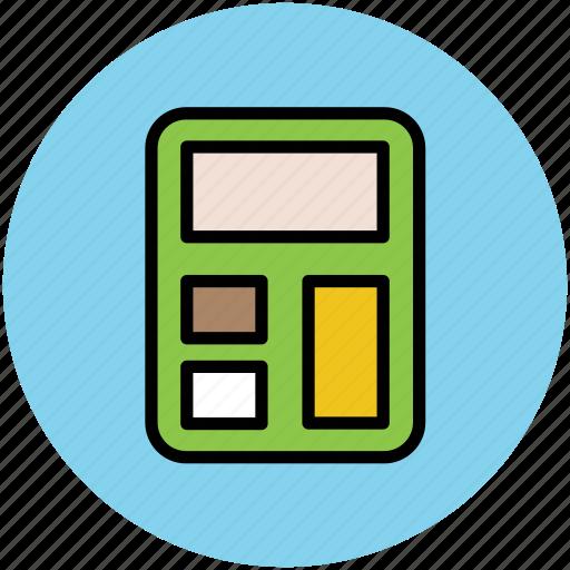calculate, calculation, calculator, digital calculator, electronic calculator, finance, maths icon