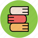 books, books stack, education, study icon