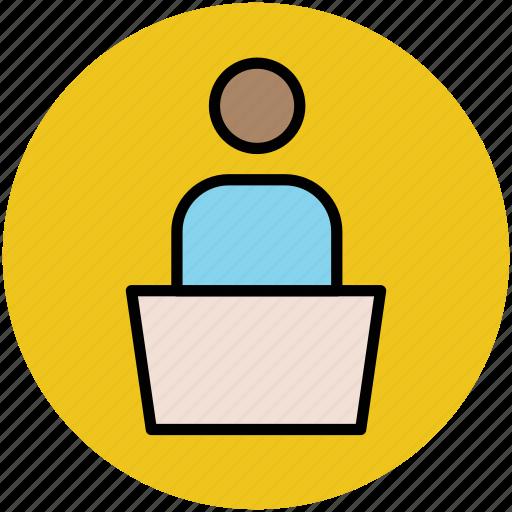 classroom, lecturer, professor, teacher, teaching icon
