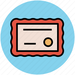 certificate, deed, degree, diploma, educational certificate icon