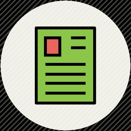 biodata, curriculum vitae, cv, job application, profile, resume icon