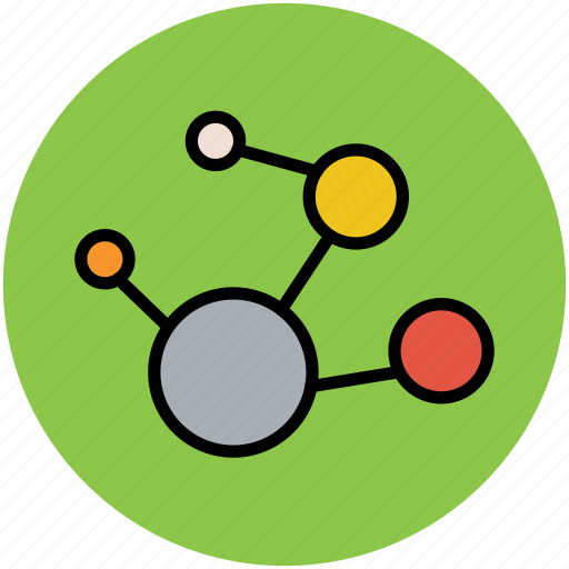 atom, compound, electron, molecule, science icon