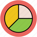 analytic, chart, circle chart, graph, pie chart, pie circle, stats icon
