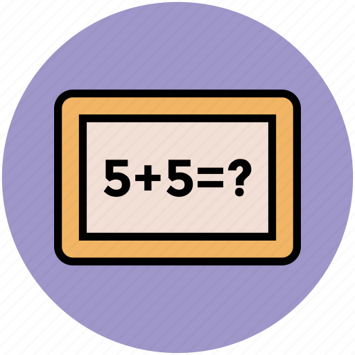 education, math, math question, mathematics, study icon