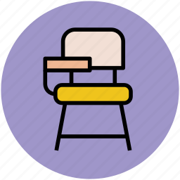 classroom chair, furniture, interior, school furniture, student chair icon