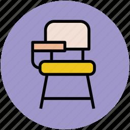 classroom chair, furniture, interior, school furniture, student chair icon