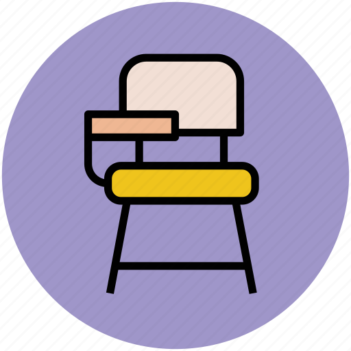 Classroom Chair Furniture Interior School Student Icon