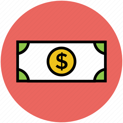 banknote, cash, currency, dollar, dollar currency, dollar note icon