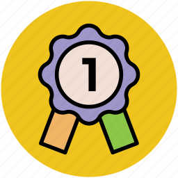 first place, first position, medal, position badge, winning medal icon