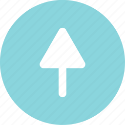 arrow, point, up icon