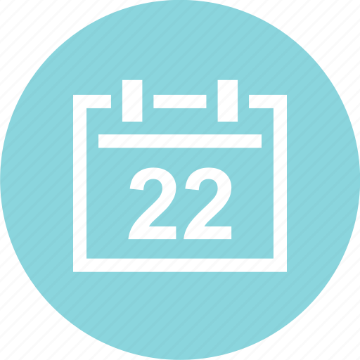 appointment, calendar, date, event, schedule, twenty, two icon