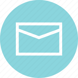 address, circle, email, envelope, mail, message icon