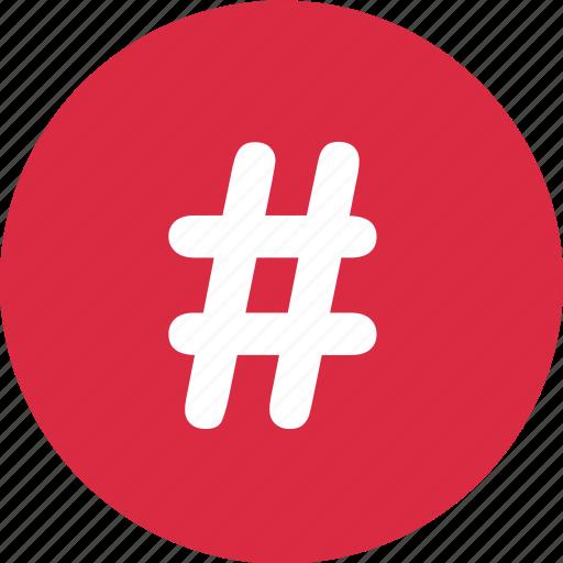 hashtag, navigation, sign icon
