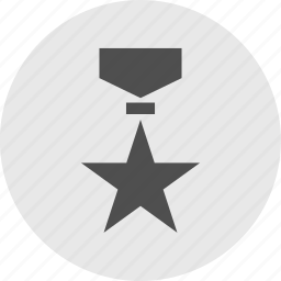 award, circle, honor, medal, ribbon, special, star icon