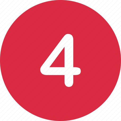 four, number, online icon