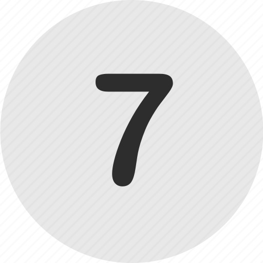 number, online, seven icon