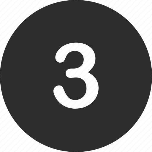 number, online, three icon
