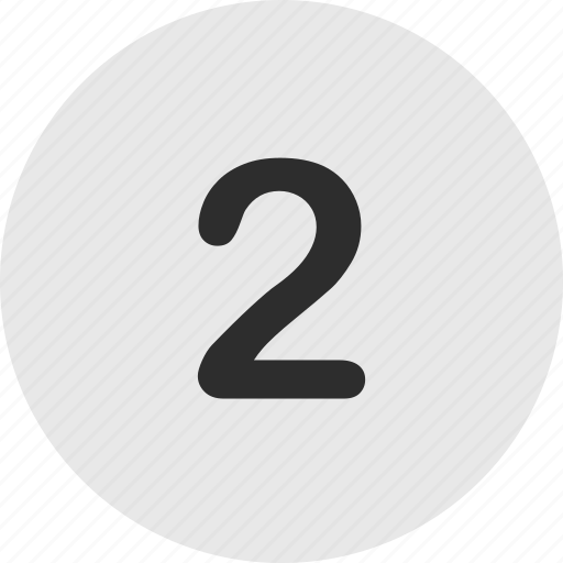 number, online, two icon
