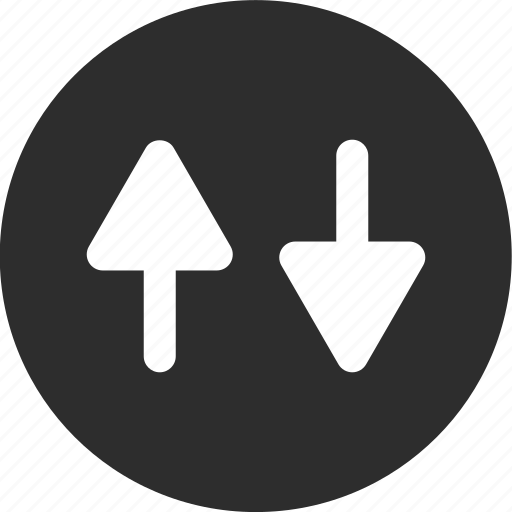 arrows, down, online, up icon
