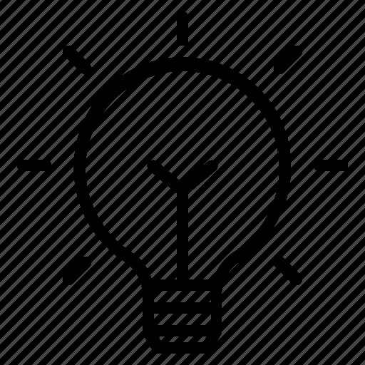 blub, bright, idea, lightbulb icon
