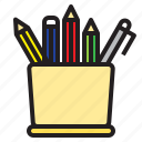 case, learning, pencil, report, search, study, tool icon