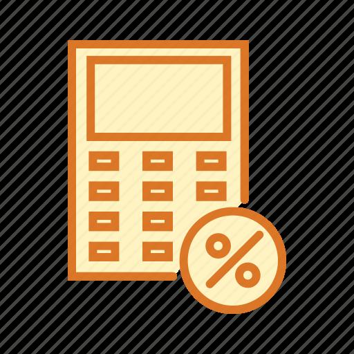 calculation, calculator, mathematics, maths, percentage icon