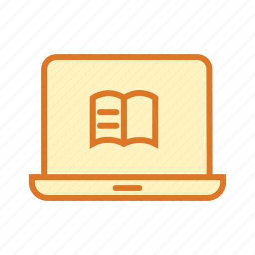 computer, education, elearning, online book, online courses, online learning icon