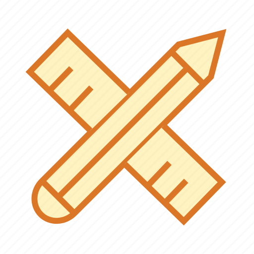 draw, geometry, measurement, pencil and scale, ruler, write icon