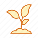 botany, education, nature, plant, science, young plant icon