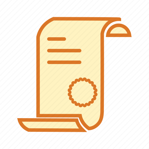 document, letter, notice, rank card, report card icon