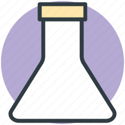 conical flask, erlenmeyer flask, flask, lab equipment, lab flask icon