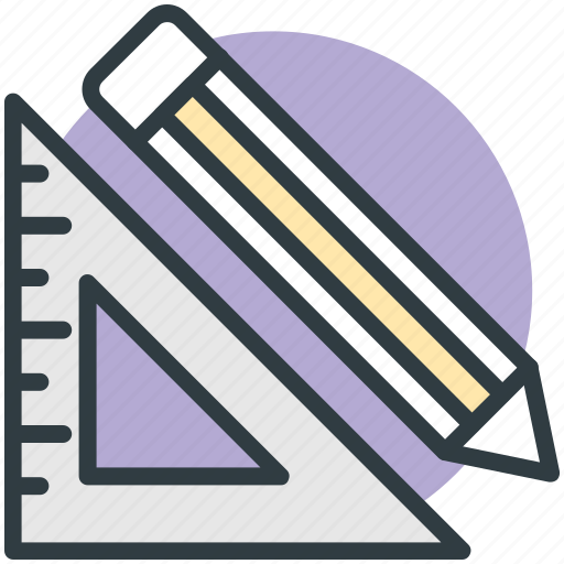 degree scale, drafting, geometry, maths, sketching, triangle scale icon