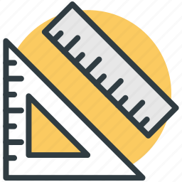 degree tool, geometry, protractor, protractor tool, ruler and degree icon