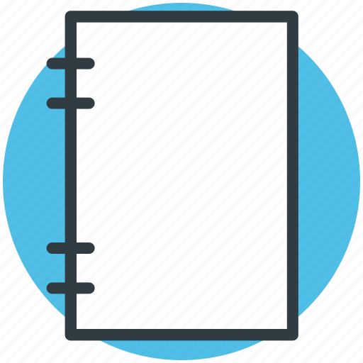 data, notepad, notes, records, steno pad icon