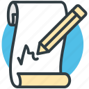 document, lead pencil, note, pencil and paper, write icon