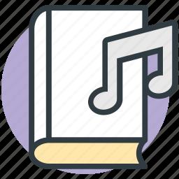 audio literature, audiobook, ebook, music book, videobook icon