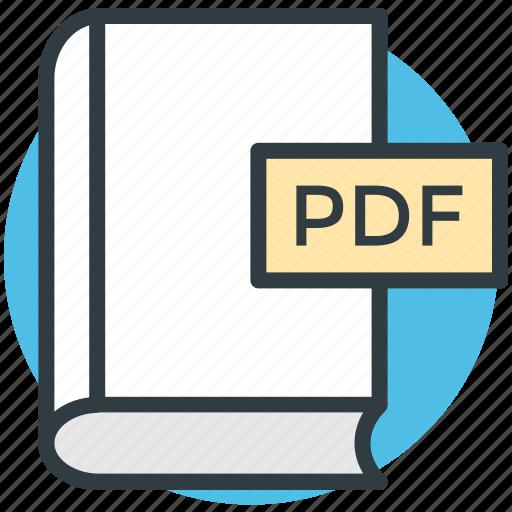 book, pdf, pdf book, pdf file, pdf format icon