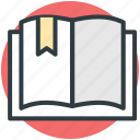 book, encyclopedia, guide, literature, open book icon