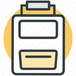 clipboard, list, paper, record, shopping list icon