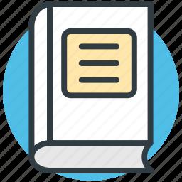 book, encyclopedia, guide, literature, schoolbook icon