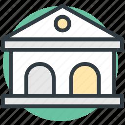 architecture, building, school, school building, tavern icon