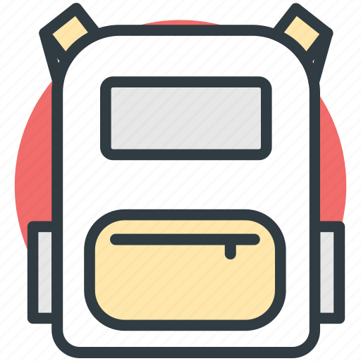 backpack, bag, book bag, school bag, school supplies icon