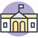 architecture, building, school, school building, tavern icon