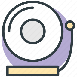 audio, melody, music player, record player, vinyl icon