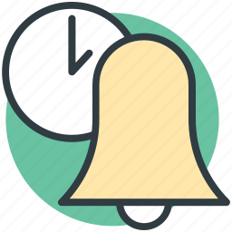 bell, ding dong, ring, time for bell, time schedule icon