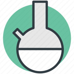conical flask, erlenmeyer flask, flask stand, lab equipment, lab flask icon