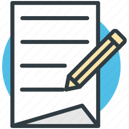 notepad, pencil, write, writing, writing pad icon