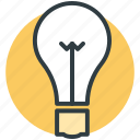 bulb, idea, innovation, invention, light bulb icon
