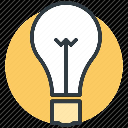 bulb, idea, innovation, invention, light bulb icon